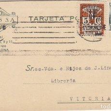 Sellos: TP: SELLO 681 Y B11. BARCELONA A VITORIA. 1935. Lote 172996423