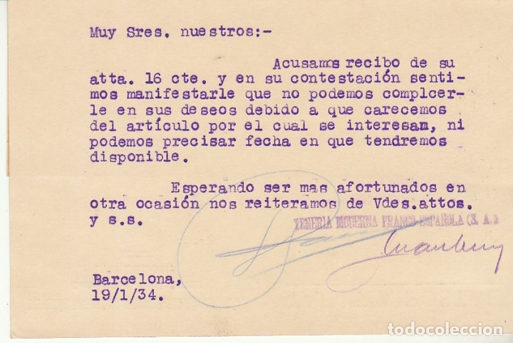 Sellos: Sello 657 y B10. BARCELONA a GRANADA.1934. - Foto 2 - 172996909