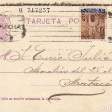 Sellos: MATRONA DE PERFIL : BARCELONA A MATARÒ. 1936.. Lote 172998488