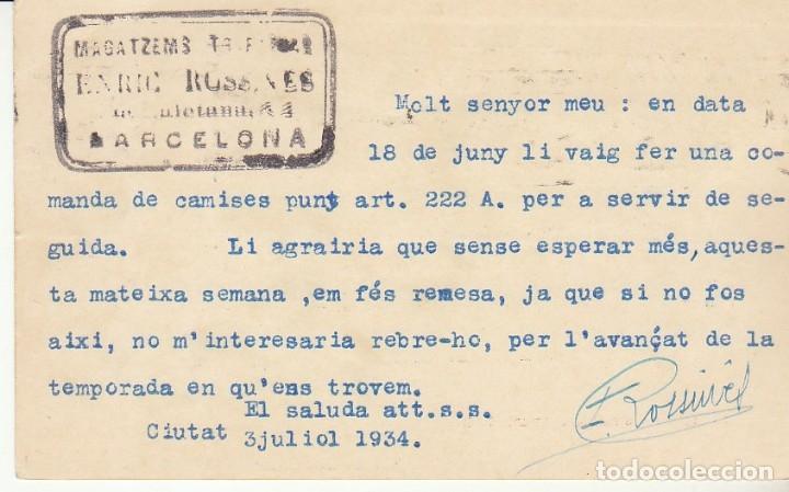 Sellos: MATRONA de PERFIL : BARCELONA a MATARÓ. 1934. - Foto 2 - 173014162