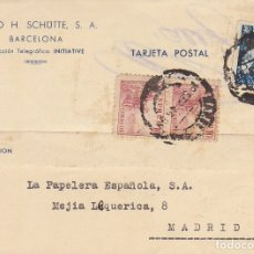 Sellos: BARCELONA A MADRID. 1945.ALFRED H. SCHÜTTE, S.A.. Lote 173161737