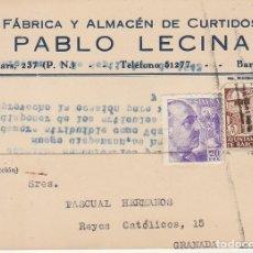 Sellos: BARCELONA A GRANADA. 1945. PABLO LECINA.. Lote 173161865