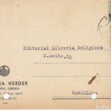 Sellos: BARCELONA. 1943. LIBRERIA HERDER.. Lote 173162248