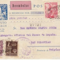 Sellos: BARCELONA A SAN SEBASTIAN. 1939.INSTITUTO GALLACH.. Lote 173162500