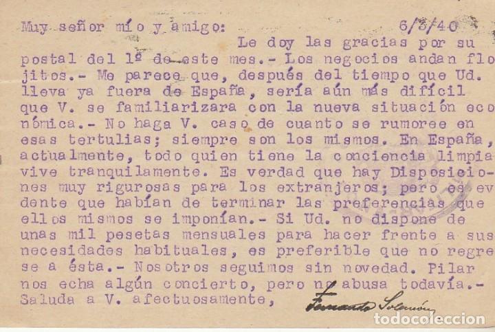 Sellos: BARCELONA a ZÜRICH. 1940. - Foto 2 - 173162679