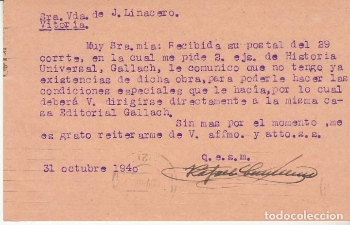 Sellos: BARCELONA a VITORIA. 1940. - Foto 2 - 173162957