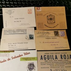 Sellos: LOTE DE TARJETAS POSTALES CON PUBLICIDAD. ESTADO ESPAÑOL. Lote 173876205