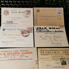 Sellos: LOTE DE TARJETAS POSTALES CON PUBLICIDAD. ESTADO ESPAÑOL. Lote 173876737