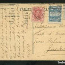 Francobolli: TP DIRIGIDA A SANT FELIU DE GUIXOLS, AGO. 1929. SELLO AYTO BARCELONA + 5CTS. VAQUER A MODO DE TASA. Lote 12894793
