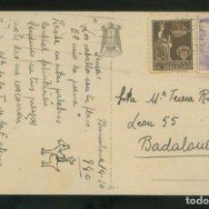 Sellos: TP CIRCULADA BARCELONA A BADALONA, OCT. 1940. SELLO AYUNTAMIENTO BARCELONA.. Lote 12894858