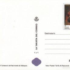 Sellos: LA TARJETA DEL CORREO NUM 80-9 IV CENTENARIO NACIMIENTO VELAZQUEZ 1999. Lote 177190442