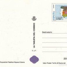 Timbres: LA TARJETA DEL CORREO NUM 36-1 V EXPOS. FILATELICA HISPANO CUBANA - VIGO 1998. Lote 177193722