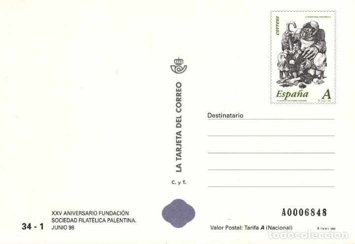 LA TARJETA DEL CORREO NUM 34 -1 XXV ANIV. FUNDACION SOC. FILATELICA PALENTINA - PALENCIA - 1998 (Sellos - Extranjero - Tarjetas)
