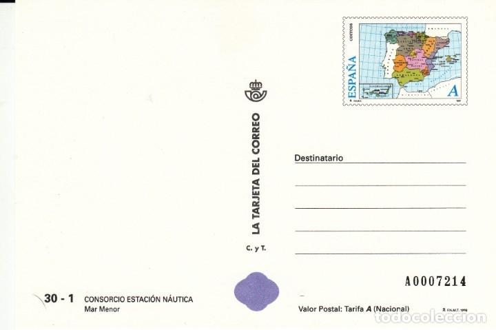LA TARJETA DEL CORREO NUM 30-1 CONSORCIO ESTACION NAUTICA MAR MENOR - 1998 (Sellos - Extranjero - Tarjetas)