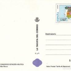 Sellos: LA TARJETA DEL CORREO NUM 30-1 CONSORCIO ESTACION NAUTICA MAR MENOR - 1998. Lote 177296714