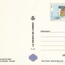 Sellos: LA TARJETA DEL CORREO NUM 20-1 PALACIO DEL MAR SAN SEBASTIAN DONOSTIA 1998. Lote 177298255