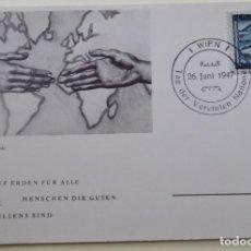 Sellos: AUSTRIA. TP CON MATASELLO DE 1947. MANOS. SELLO DE VISTAS DIVERSAS.. Lote 177892075
