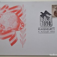 Sellos: AUSTRIA. TP CON MATASELLO DE 1950. SELLO Nº 741 TRAJES REGIONALES DE BURGENLAND.. Lote 177892080