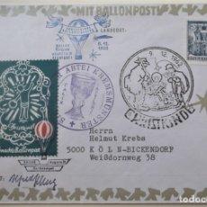 Sellos: AUSTRIA. SOBRE CON MATASELLO DE NAVIDAD 1962 Y GLOBO AEROSTÁTICO.. Lote 177892095
