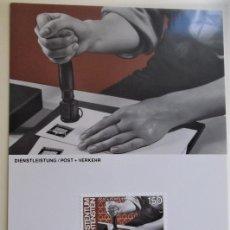 Sellos: LIECHTENSTEIN. TM 801 EL HOMBRE Y EL TRABAJO: CORREOS Y TRANSPORTE. 1984. MATASELLO PRIMER DÍA.. Lote 178585055