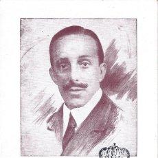 Timbres: TARJETA POSTAL. ALFONSO XIII. MATASELLOS DE CORREOS ESTAFETA DEL SENADO. 10-MAYO-1930. LUJO.. Lote 178601862