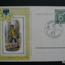 Sellos: III REICH-1940-6P. TARJETA POSTAL-MATASELLO CONMEMORATIVO-DIA DEL SELLO. Lote 178606268