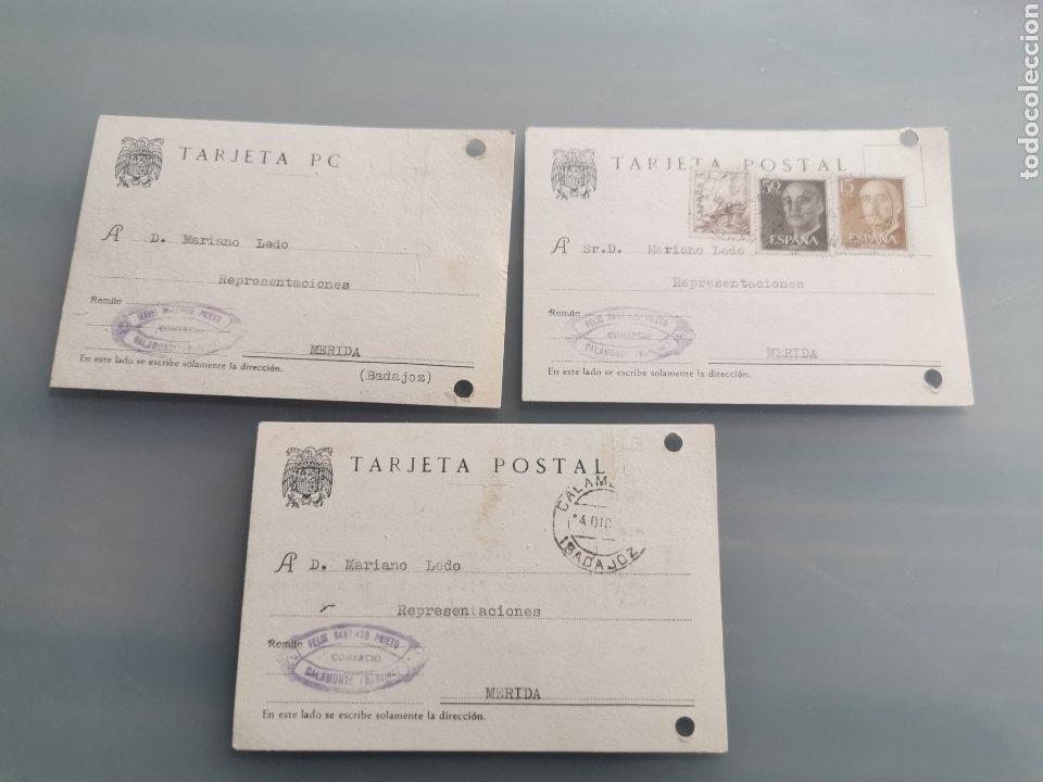 CALAMONTE BADAJOZ. TARJETAS COMERCIALES (Sellos - España - Tarjetas)