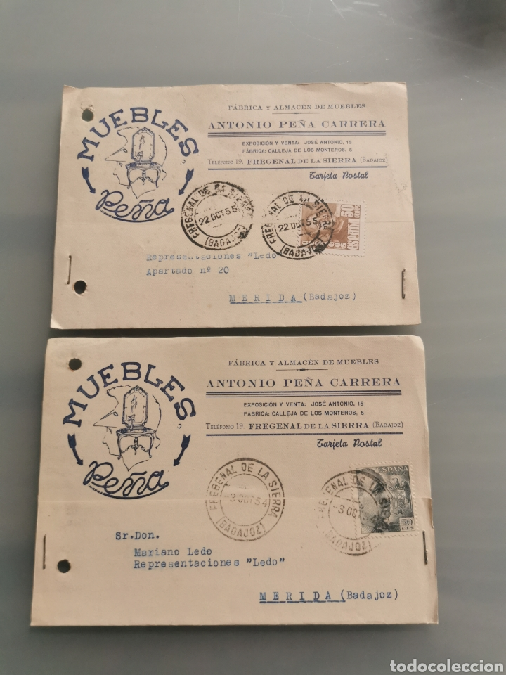 FREGENAL DE LA SIERRA BADAJOZ TARJETAS COMERCIALES (Sellos - España - Tarjetas)