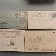 Timbres: VILLAFRANCA DE LOS BARRO BADAJOZ. TARJETAS COMERCIALES. Lote 181676118