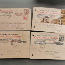 Sellos: FUENTE DE CANTOS BADAJOZ. TARJETAS COMERCIALES. Lote 181676483