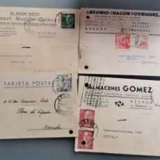Selos: AZUAGA BADAJOZ. TARJETAS COMERCIALES. Lote 181676648