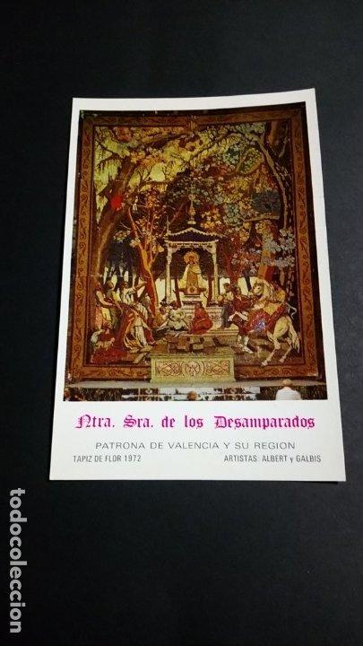 NUESTRA SEÑORA DE LOS DESAMPARADOS PATRONA DE VALENCIA 1973 (Sellos - Extranjero - Tarjetas)