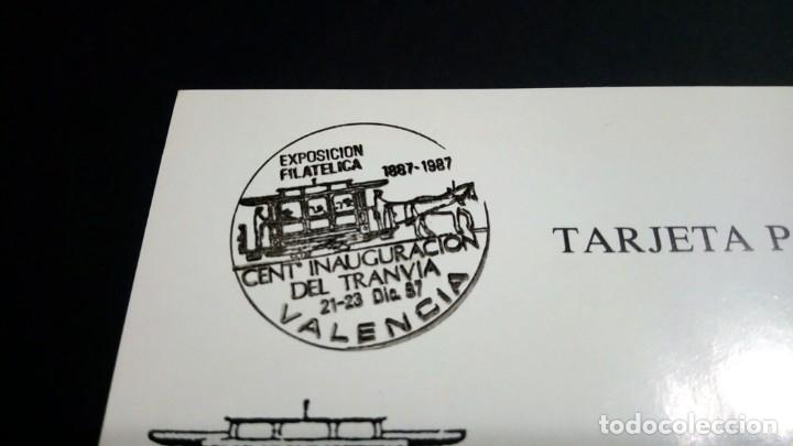 Sellos: TARJETA POSTAL EXPOSICION FILATELICA CENTENARIO DE LA INAUGURACION DEL TRANVIA EN VALENCIA - Foto 2 - 181959431