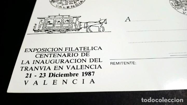 Sellos: TARJETA POSTAL EXPOSICION FILATELICA CENTENARIO DE LA INAUGURACION DEL TRANVIA EN VALENCIA - Foto 4 - 181959431