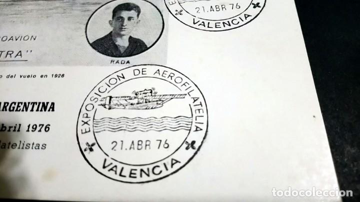 Sellos: TARJETA FILATELICA MATASELLOS ESPECIAL EXPOSICION DE AEROFILATELIA VALENCIA 1976 - Foto 2 - 181960503