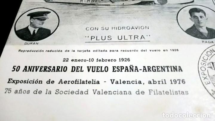 Sellos: TARJETA FILATELICA MATASELLOS ESPECIAL EXPOSICION DE AEROFILATELIA VALENCIA 1976 - Foto 5 - 181960503