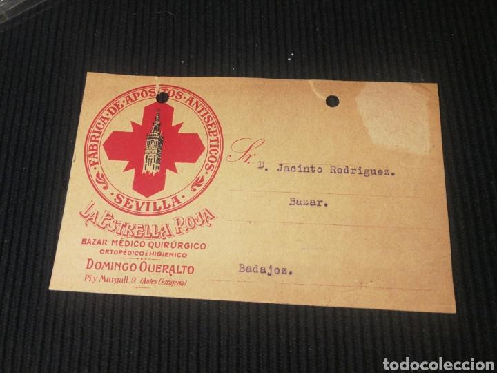 LA ESTRELLA ROJA. SEVILLA 1918. (Sellos - España - Tarjetas)