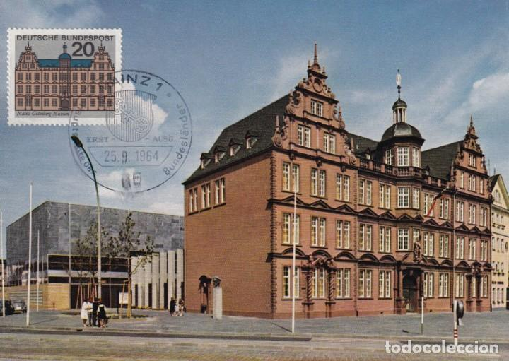 ALEMANIA, 25 SEPTIEMBRE 1964 - GUTENBERG. MUSEO DE GUTENBERG, MAINZ (Sellos - Extranjero - Tarjetas Máximas)