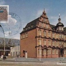 Sellos: ALEMANIA, 25 SEPTIEMBRE 1964 - GUTENBERG. MUSEO DE GUTENBERG, MAINZ. Lote 184942237