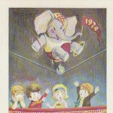 Sellos: MONACO IVERT 975, 1º FESTIVAL INTERNACIONAL DEL CIRCO (ELEFANTES), TARJETA MÁXIMA 12-11-1974. Lote 185721861