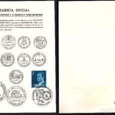 Sellos: TARJETA OFICIAL MARCOFILIA TORRELAVEGUENSE - EXFINUTO 79. Lote 188477948