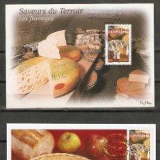Sellos: FRANCIA.2003. 2 CARTAS MÁXIMA . REGIONES. ALIMENTOS.. Lote 190446230
