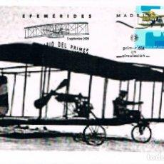 Sellos: EDIFIL 4503, CENTENARIO PRIMER VUELO A MOTOR, TARJETA MÁXIMA PRIMER DÍA PATERNA (VALENCIA) 7-9-2009. Lote 190716357