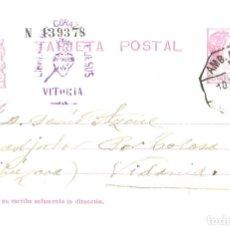 Sellos: TARJETA POSTAL DE 1934 ENVIADA AL COADJUTOR POR TOLOSA (VIDANIA). Lote 191657220