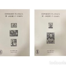 Sellos: LOTE DE 2 HOJITAS RECUERDOS EXPOSICION FILATELICA DE AMERICA Y EUROPA. ESPAMER 77. NUEVAS. Lote 191689933