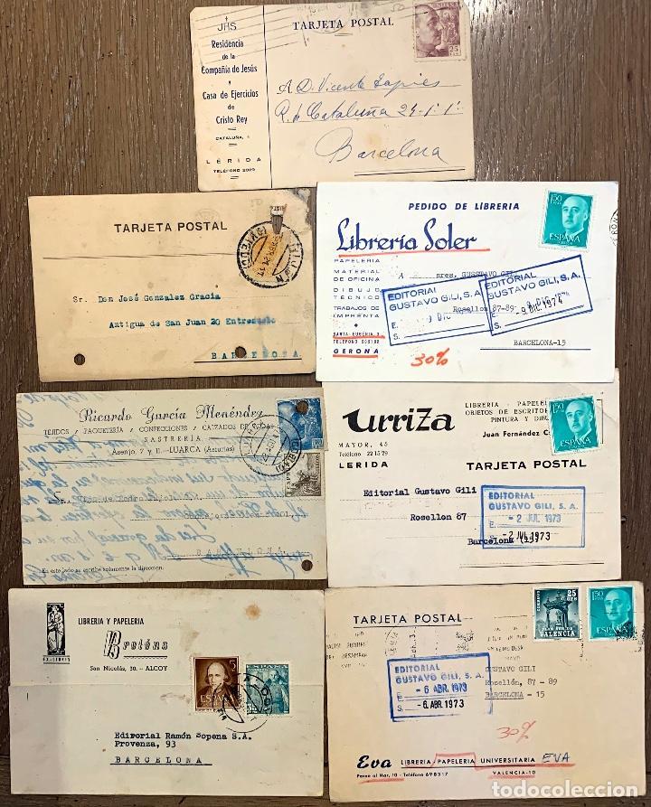 7 TARJETAS CIRCULADAS ENTRE 1921-1974 (Sellos - España - Tarjetas)