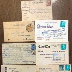 Sellos: 7 TARJETAS CIRCULADAS ENTRE 1921-1974. Lote 191987617