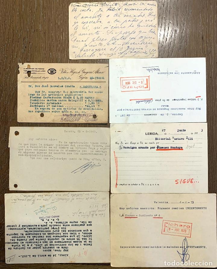 Sellos: 7 TARJETAS CIRCULADAS ENTRE 1921-1974 - Foto 2 - 191987617