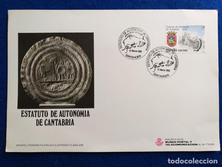 1983. TARJETA MAXIMA. ESTATUTOS DE AUTONOMIA DE CANTABRIA (Sellos - Extranjero - Tarjetas Máximas)