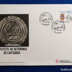 Sellos: 1983. TARJETA MAXIMA. ESTATUTOS DE AUTONOMIA DE CANTABRIA. Lote 192054997